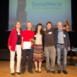 Nagradu su primili Igor Ježek, Rusalka Majer i Goran Hanžek (u sredini slijeva)